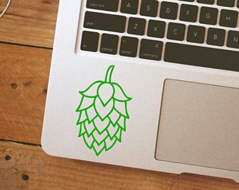 hops sticker on laptop