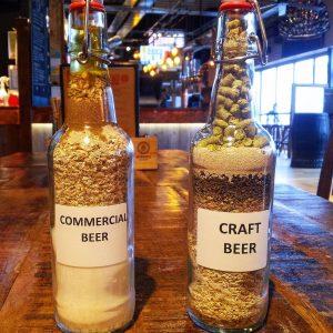 cerveza artesanal vs commercial